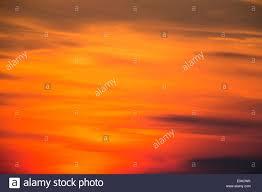 beautiful warm orange yellow red sky during the sunrise sunset