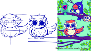 learn how to draw an owl step by step tutorial