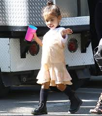 styling two year hair north west gets her hair done by kardashian stylist while dressed