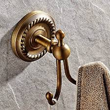 amazon com rozin antique brass bathroom robe towel hook wall