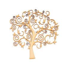 ambrosia crafts mdf tree shape swirly tree style mdf tree