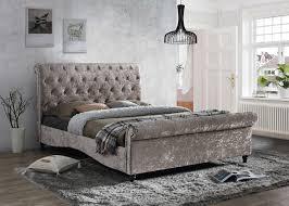 Velvet Bed Frame Birlea Brighton Oyster Crushed Velvet Bed Frame Fabric Beds Beds