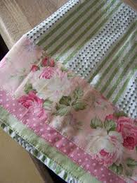 pieced pillow case or towel so pretty great way to update old