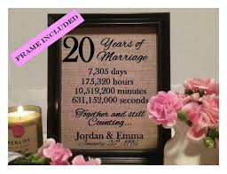 20th anniversary gift for framed 20th anniversary gift 20th wedding anniversary gifts