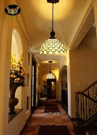 Pendant Lights For Hallways Yellow Stained Glass Entrance Hallway Hallway