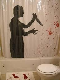 Blood Shower Curtain Psycho Inspired Curtain And Killing Scene Print Also Shadow Blood