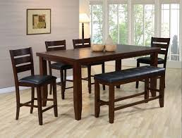 counter height dining table with bench marvelous counter height dining set with bench dining room ataa