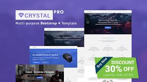 bootstrap sites templates crystal free bootstrap video background website template