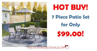 Home Depot Patio Table And Chairs 7 Patio Set For Only 99 Home Depot