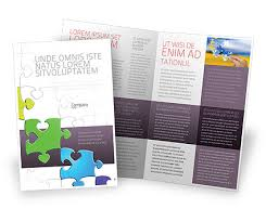 fancy jigsaw brochure template design and layout now