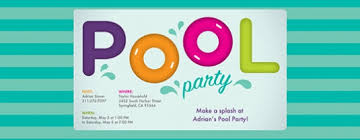 pool party invitations templates free for your inspiration