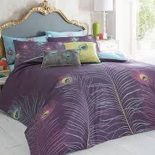 Pillow And Duvet Set Purple U0027peacock U0027 Bedding Set Duvet Covers U0026 Pillow Cases