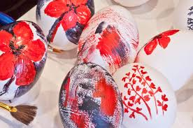 blown easter eggs painted easter eggs stock photo image of varnish 30023490