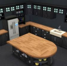 how to make a corner kitchen cabinet sims 4 brohill kitchen add ons wood counter tops sims house