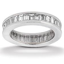 channel set wedding band 2 79 ct t w baguette cut diamond channel set eternity wedding band