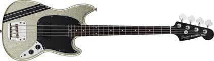 squier mustang bass squier mikey way mustang bass large flake silver sparkle bass