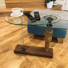 coffee table wood and glass desunique