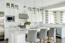 grey kitchen bar stools white kitchen with gray velvet counter stools and white beveled