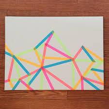 wreckless diy washi tape canvas frame