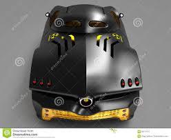 design of the city car concept in a futuristic style 3d