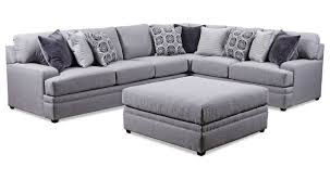 simmons upholstery 8560 br casual sectional sofa dunk u0026 bright