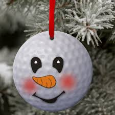 snowman ornament custom golf snowman ornament gift