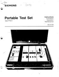 sg 3138 portable test set type pts 4 manual siemens ecp