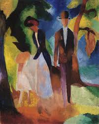 august macke painting people at the blue lake by august macke