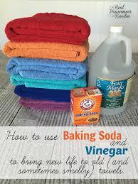 use baking soda and vinegar to bring new life to old and use baking soda and vinegar to clean towels
