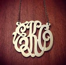 three initial monogram necklace monogram gallery sles of monogram jewelry made for our