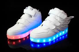 sneakers that light up on the bottom usb boy girls led light up sneakers wings children s kids high