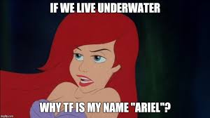 Ariel Meme - image tagged in memes the little mermaid ghetto ghetto ariel