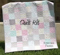 Girls Patchwork Bedding by Quilt Kit Willow Baby Patchwork Crib Nursery Bedding Grey