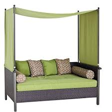 Outdoor Daybed Furniture by Amazon Com Outdoor Day Bed Green Relax U0026 Enjoy This Wicker