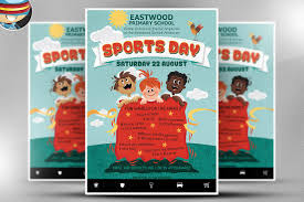 Family Day Invitation Card Kid U0027s Sports Day Flyer Template Flyer Templates Creative Market