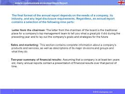 chairman s annual report template how to communicate an annual stock report ppt