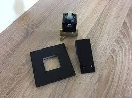 ettore premium electroplated matte black square wall mounted ettore premium electroplated matte black square wall mount