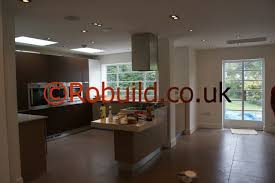 l shaped 1 storey side u0026 kitchen extension interior view open