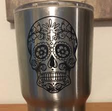 sugar skulls home decor sugar skull decal sugar skull yeti decal cup decal