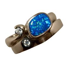dark blue opal opal engagement rings flashopal