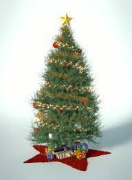 christmas tree christmas card motive rendering by jonas jaeger