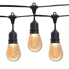 sun warm white led black commercial string lights 21