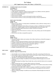 sle resume for cleaning supervisor responsibilities restaurant busser resume sles velvet jobs