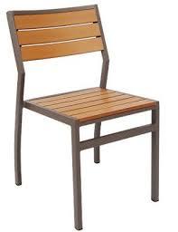 asf erat 94 modern aluminum patio chair with plastic teak kerryman