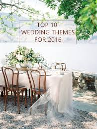 10 trending wedding theme ideas for 2016 2016 wedding trends