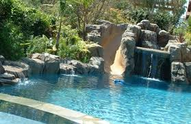 Beautiful Pool Backyards Pools With Slides And Waterfalls Home Pinterest Garden