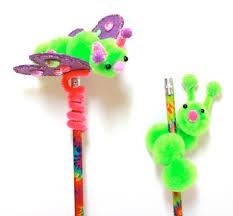 pom pom pencil toppers crafts for kids pinterest pencil