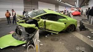 lamborghini aventador superleggera 458 spider and lamborghini gallardo superleggera destroyed