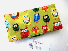 Custom Aprons For Women Custom Made Handmade Women Green Wallet Cute Colorful Owls Bibs