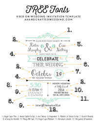 free fonts used on free rustic diy wedding invitation